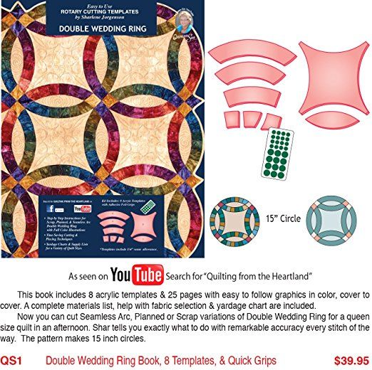 Double Wedding Ring Templates By Sharlene Jorgenson Affiliate Double Wedding Rings Quilts Sewing Machine Reviews