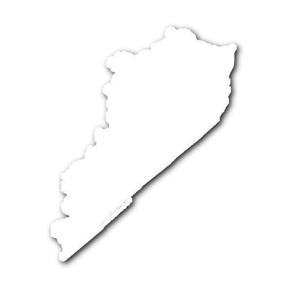 Kentucky State Shape Sticker Outline White State Shapes Kentucky State Kentucky