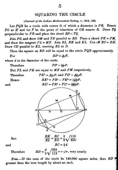 Research article describing an approximate squaring of the circle using ruler and compass (exact squaring is impossible with just those two). File:Squaring the circle.djvu