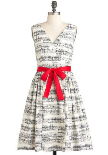 music note dress! (Modcloth)