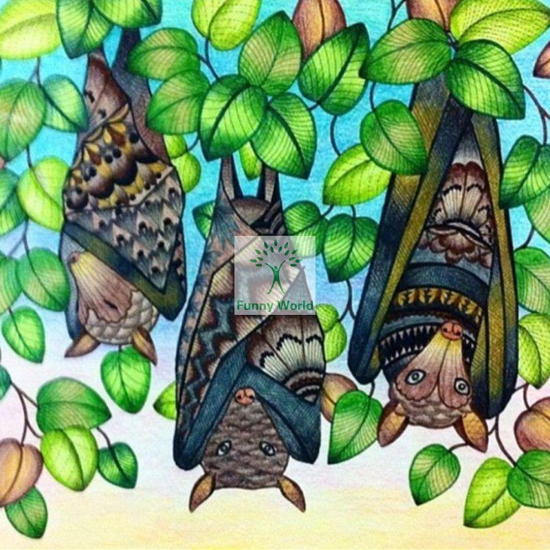 Diy Full Diamond 5d Mosaic Diamond Painting Beautiful Painted Bat Cross Millie Marotta Coloring Book Millie Marotta Tropical Wonderland Millie Marotta Tropical