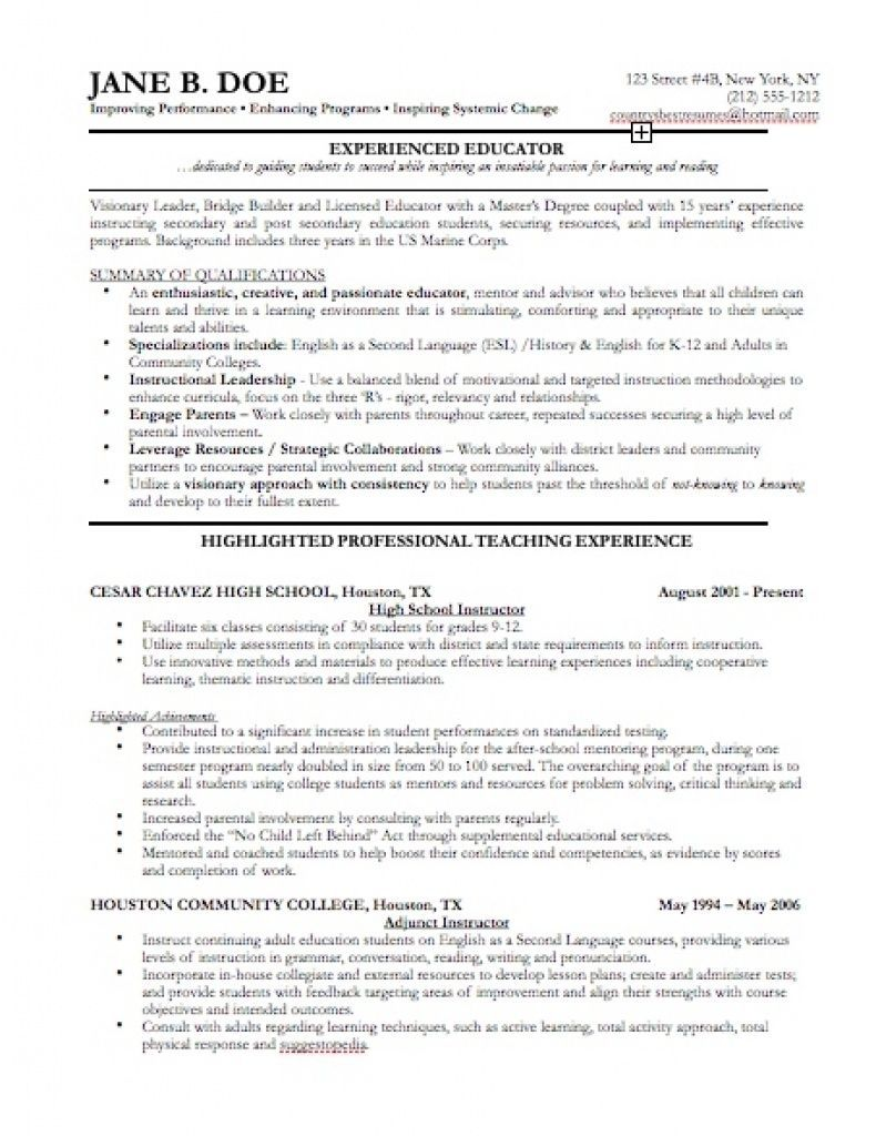 exles of resumes resume sles for experienced professionals ...