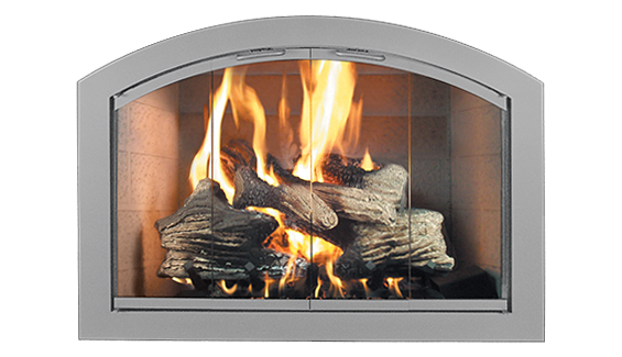 Heritage Full Arch Thermo Rite Manufacturers Glass Fireplace Fireplace Glass Doors Fireplace Doors