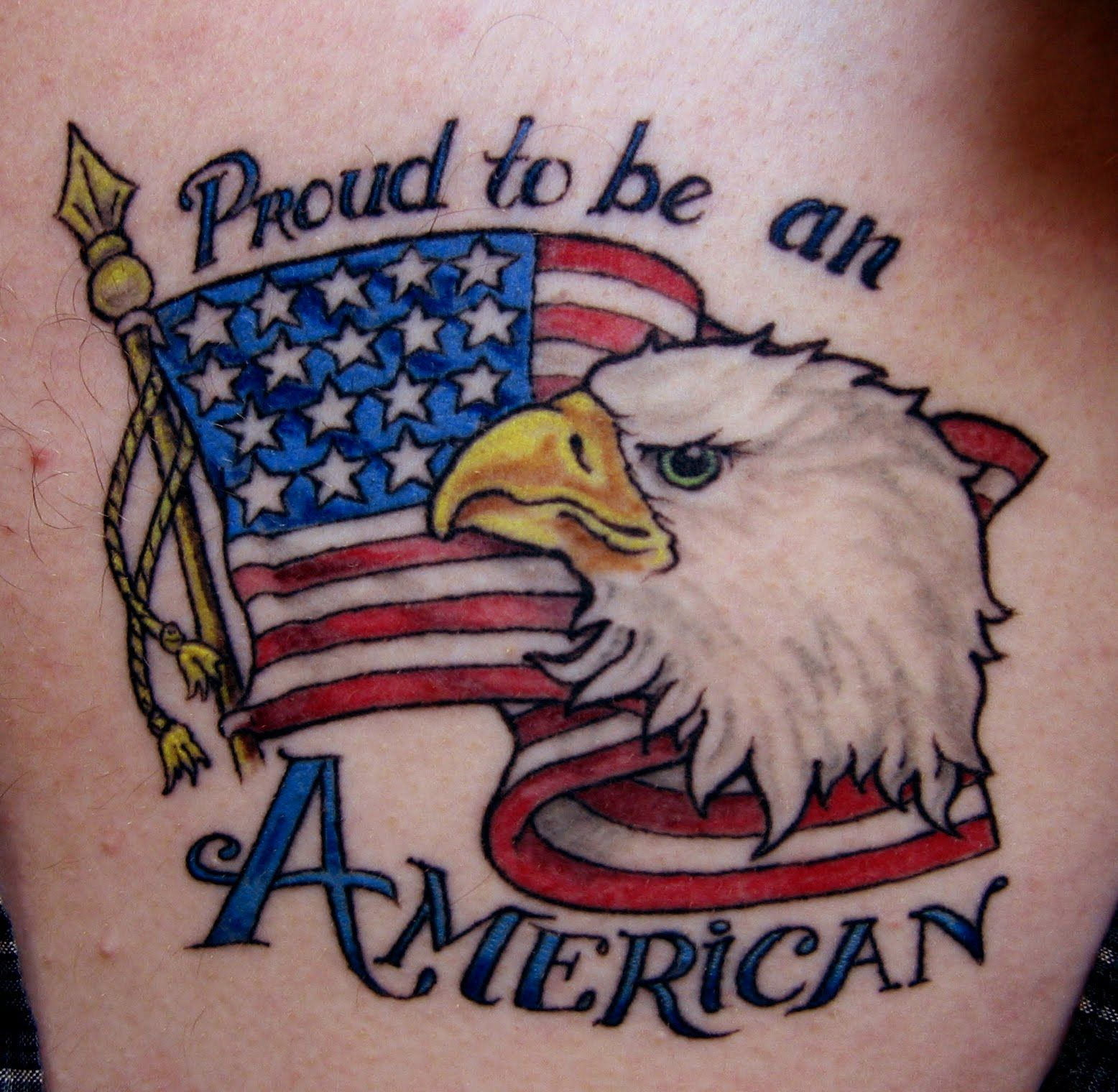 American eagle tattoos high quality photos and flash - American Flag With Eagle Tattoos Foxfire Side Chat These Colors Don T Run