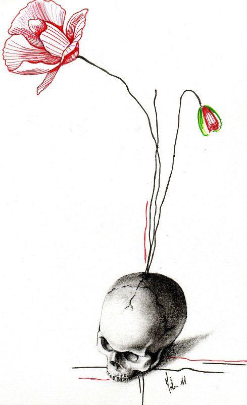 Image issue du site web - Dessin tatouage fleur ...