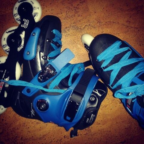 my new seba fr1 skates with blue colour kid - Colour Kid