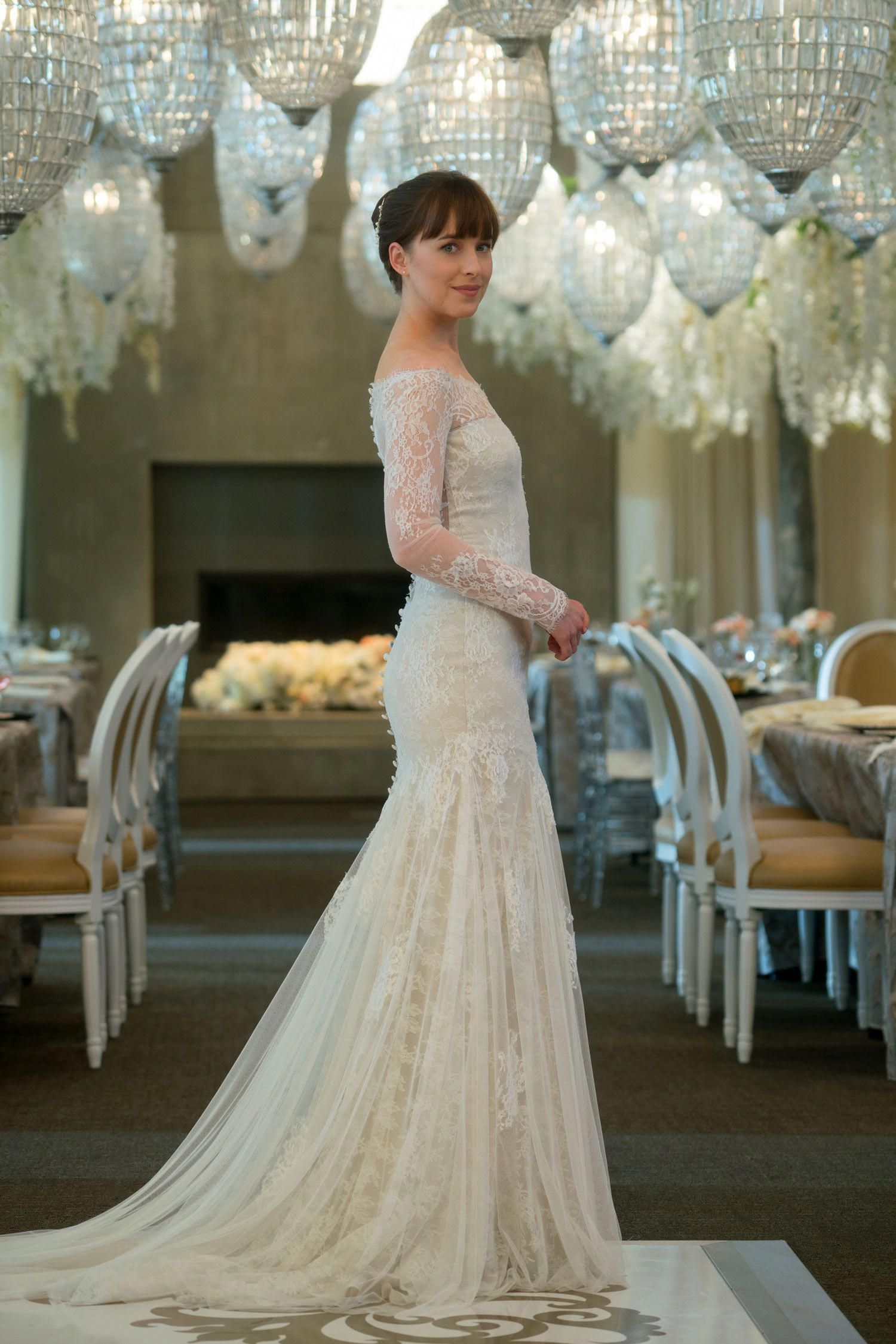 Fifty Shades Wedding Album Exclusive Details And Photos Movie Wedding Dresses Worst Wedding Dress Wedding Dresses
