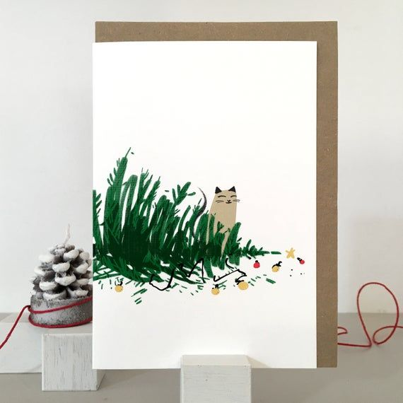Cat christmas card packs