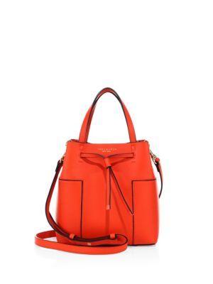 33b5536945c TORY BURCH Block-T Micro Leather Bucket Bag.  toryburch  bags  shoulder bags   hand bags  leather  bucket  lining