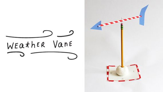 This easy homemade weather vane introduces kids to the super cool science of meteorology.