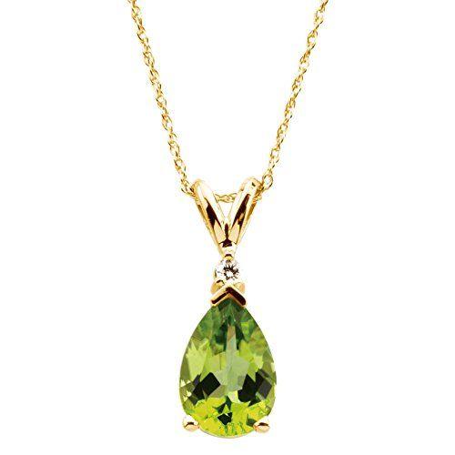 14k yellow gold peridot diamond 18inch necklace visit the image 14k yellow gold peridot diamond 18inch necklace visit the image link more details aloadofball Images