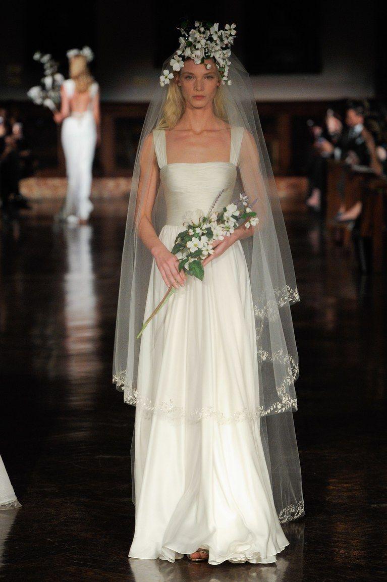 Reem Acra Bridal Spring 2019 Ethereal Wedding Dress Reem Acra