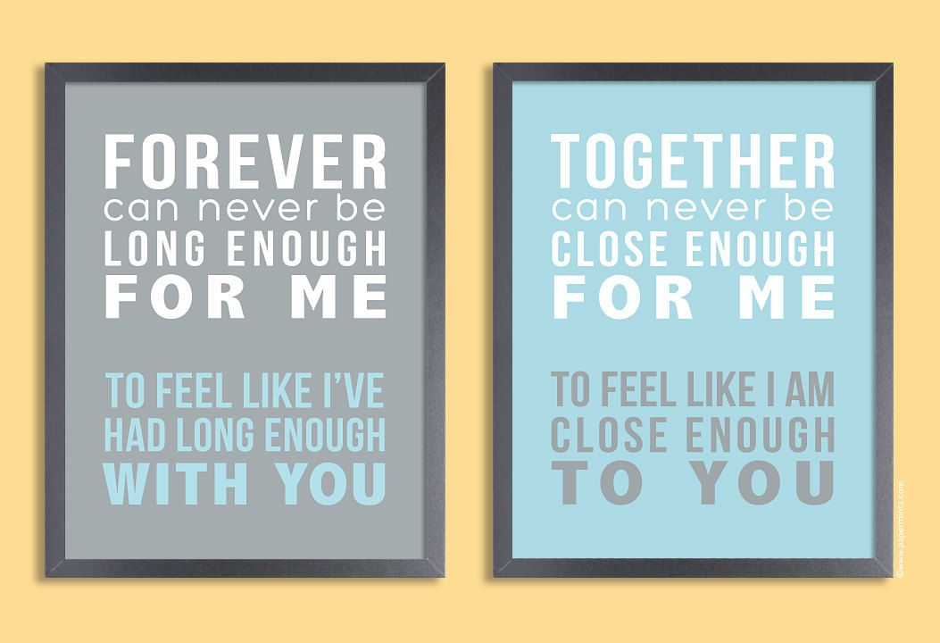 Personalized Quote Print 11x14 Set Of Two Prints By Papermintsshop
