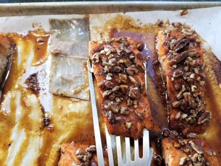 Maple, Honey & Pecan Salmon