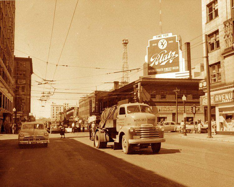 Grand avenue looking west 1951 des moines iowa des