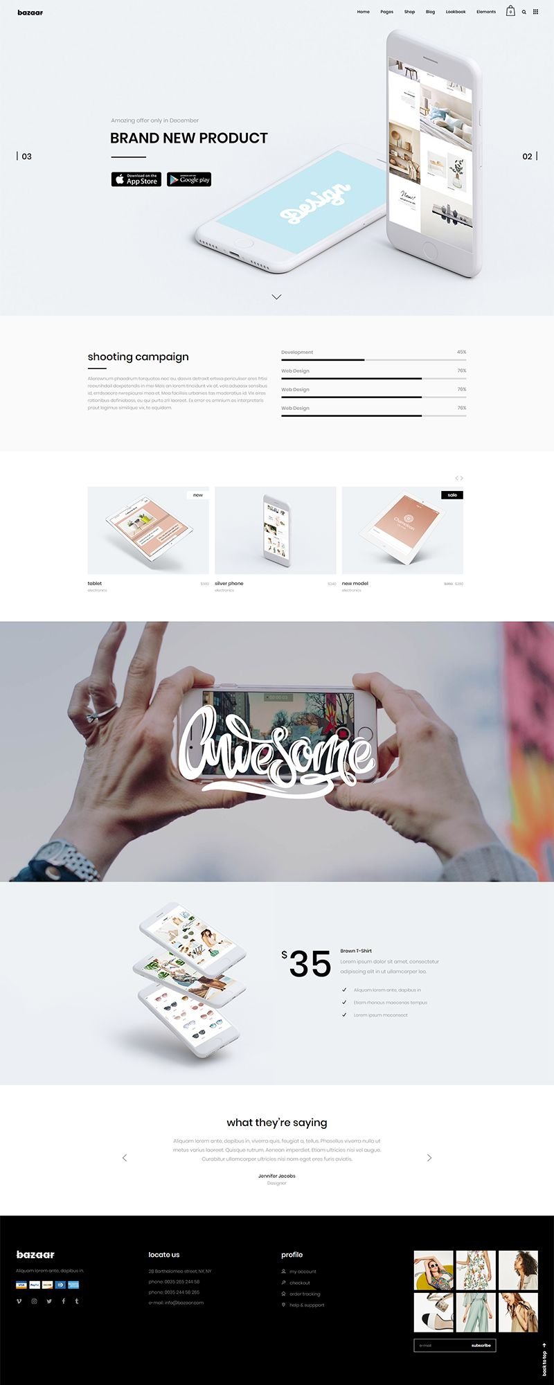 Bazaar WordPress theme is made with care and it ensures that
