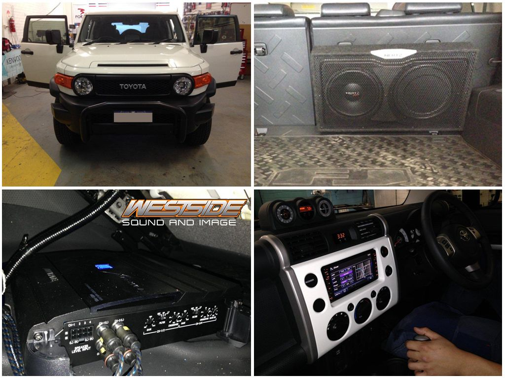 This Toyota Fj Cruiser Was Fitted With A Kenwood Ddx630wbt 7 Dvd