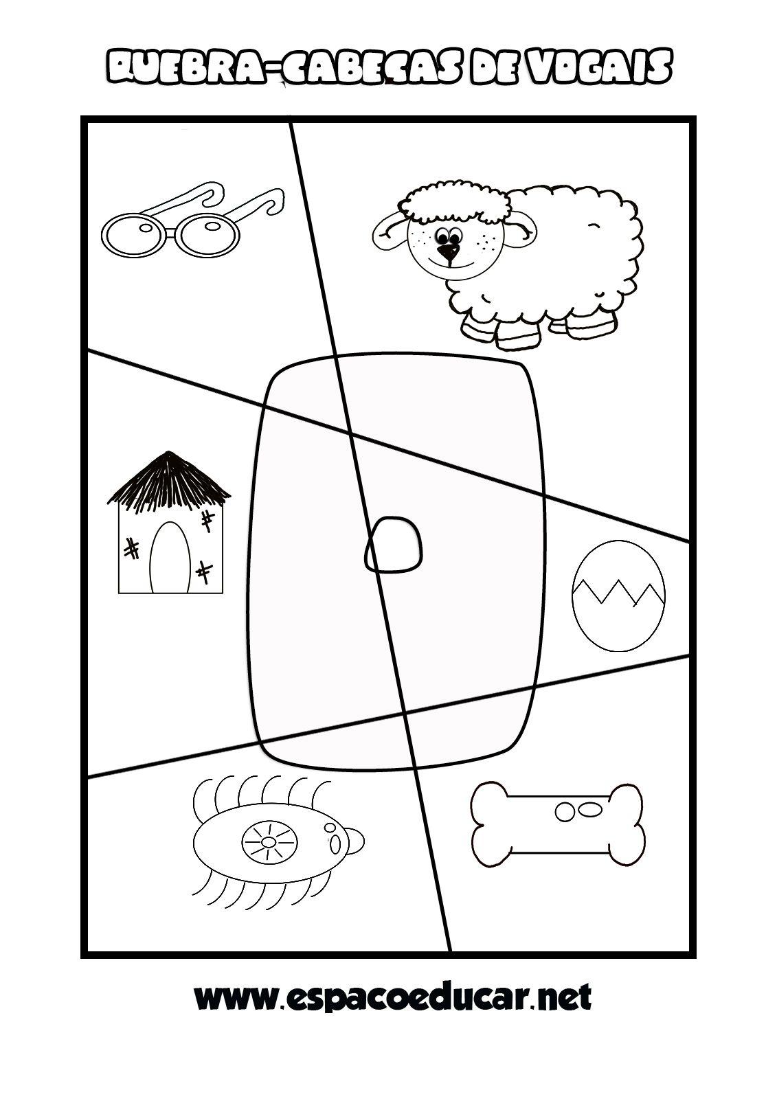 Jogo Educativo Para A Alfabetizacao Quebra Cabecas De Vogais Gratis Para Atividades De Linguagem Pre Escolar Atividades Carta Educativo