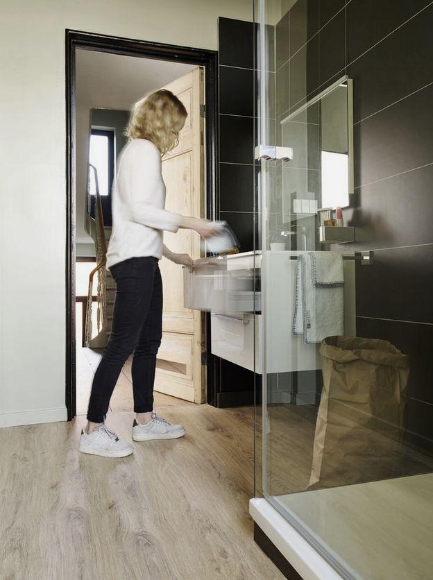 Lames De Parquet Stratifié Flottant Pour Salle De Bains Et Cuisine - Parquet stratifie pour salle de bain