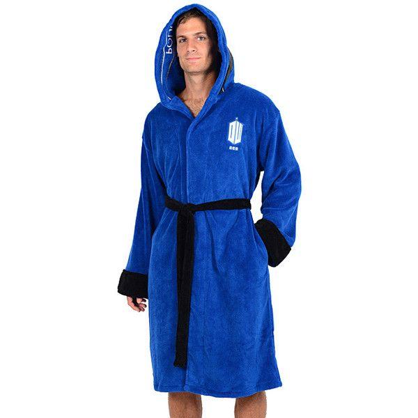 Pinnacle Doctor Who TARDIS Hooded Bath Robe ($33) ❤ liked on ...