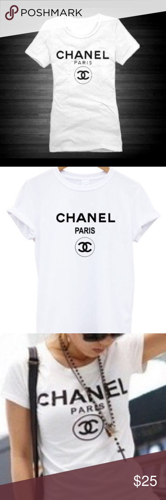 CHANEL logo Tee Shirt Classic CHANEL (inspired) tee shirt