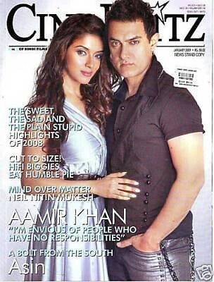 This Rare & Exciting CINE BLITZ Issue Splashed The Ghajini Pair Of ASIN THOTTUMKAL & AAMIR KHAN For The Very First Time Almost Seven Years Ago...If ASIN Arrived In Bollywood With This Film Then This Rare Cover Shoot Went A Long Way To Win A Place InThe Hearts Of Fans Across North India...Reading This Issue All Over Again Is The Best Possible Way To Get Over The 7 Year Itch!!