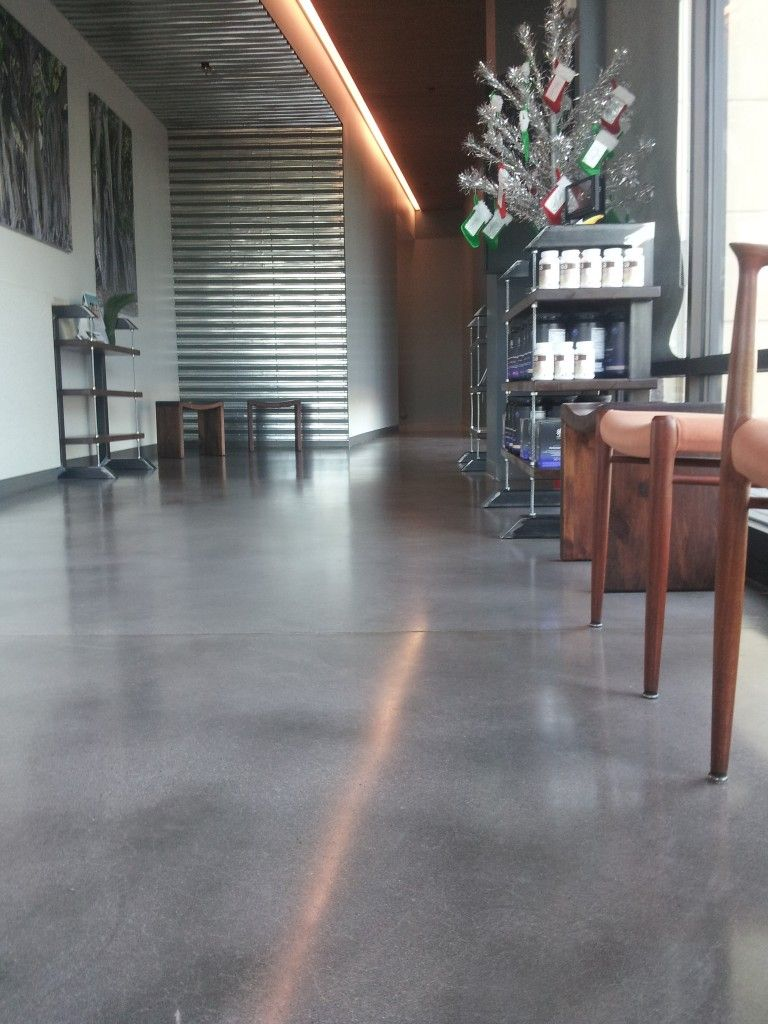 Natural Gray Concrete Floor | studio | Polished concrete flooring
