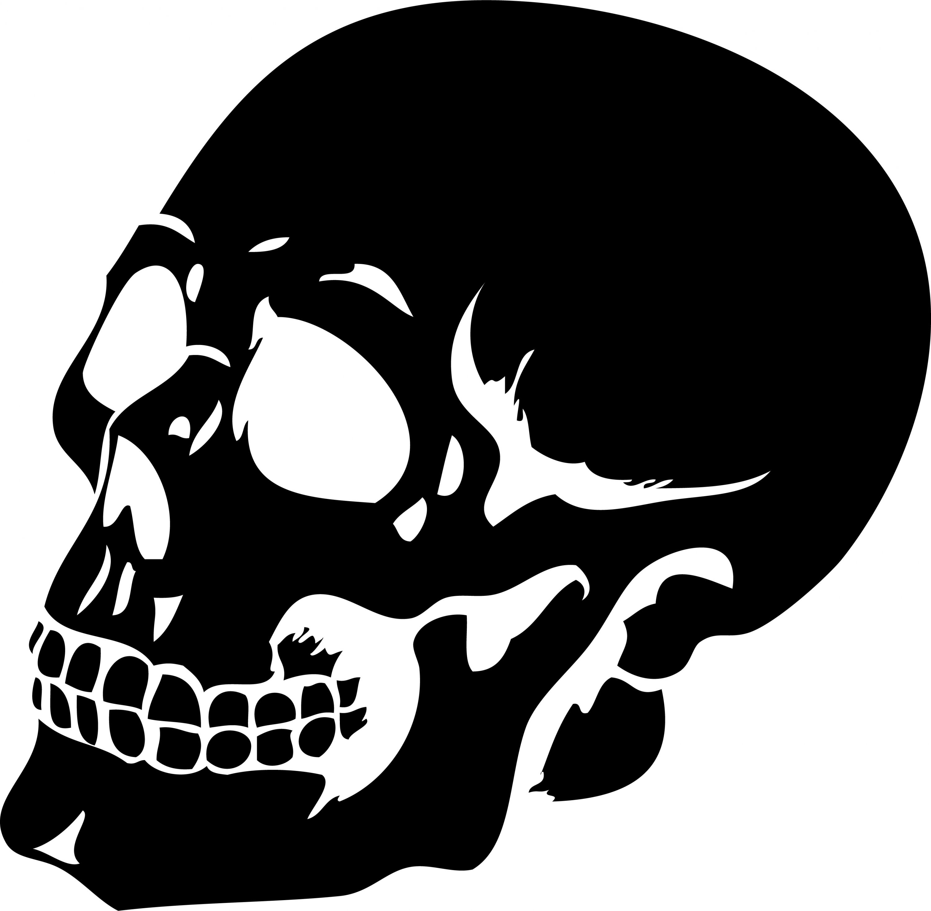 Uncategorized Scary Halloween Skulls this scary human skull silhouette wall sticker will add a gothic twist to your halloween party
