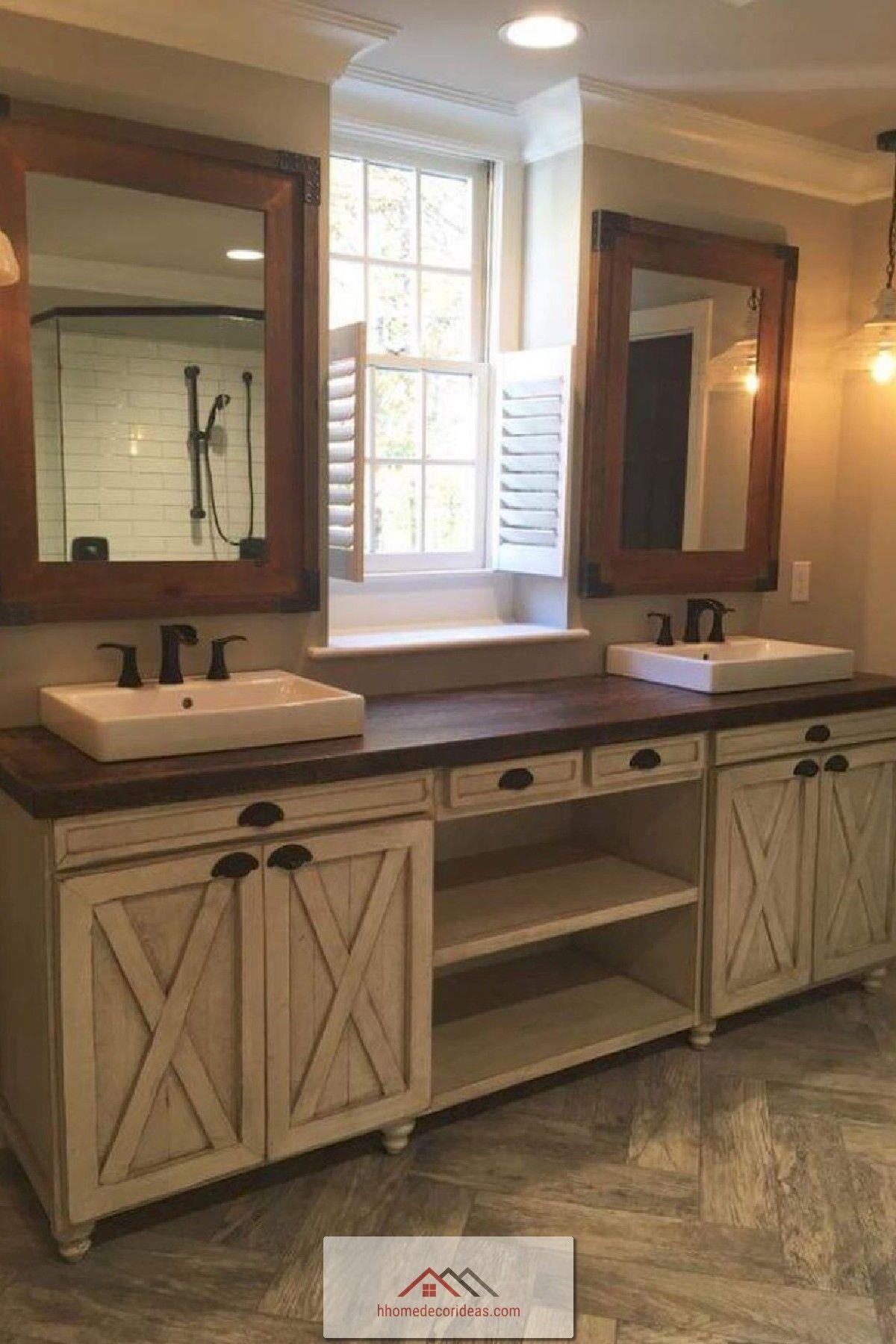 13 Rustic Farmhouse Master Bathroom Remodel Ideas Home Decor Bathroom Farmhouse Style Bathroom Remodel Master Rustic Bathroom Decor