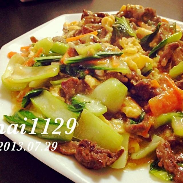 青梗菜が安かったので♡間違いない組み合わせです( ´ ▽ ` )ノ - 70件のもぐもぐ - 青梗菜と牛肉のオイスターソース炒め by mai1129