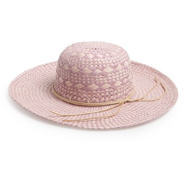 c5293885f71 David   Young Diamond Weave Floppy Straw Hat ( 7.97) ❤ liked on Polyvore  featuring accessories