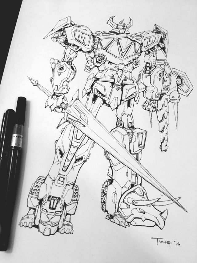 MegaZord sketch