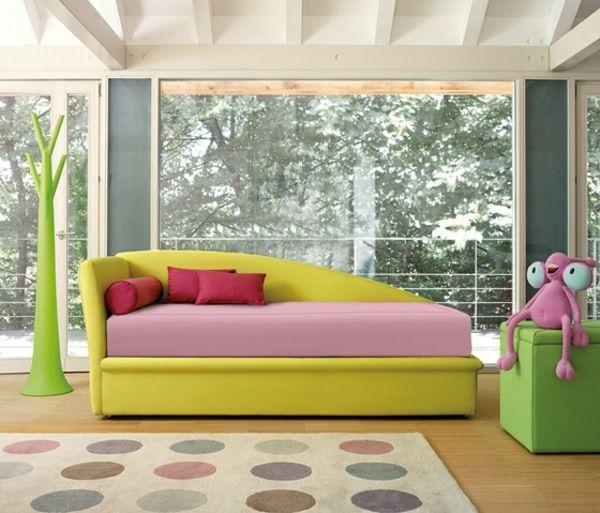 gelbes Mädchenzimmer-Design-Idee | Wohnideen
