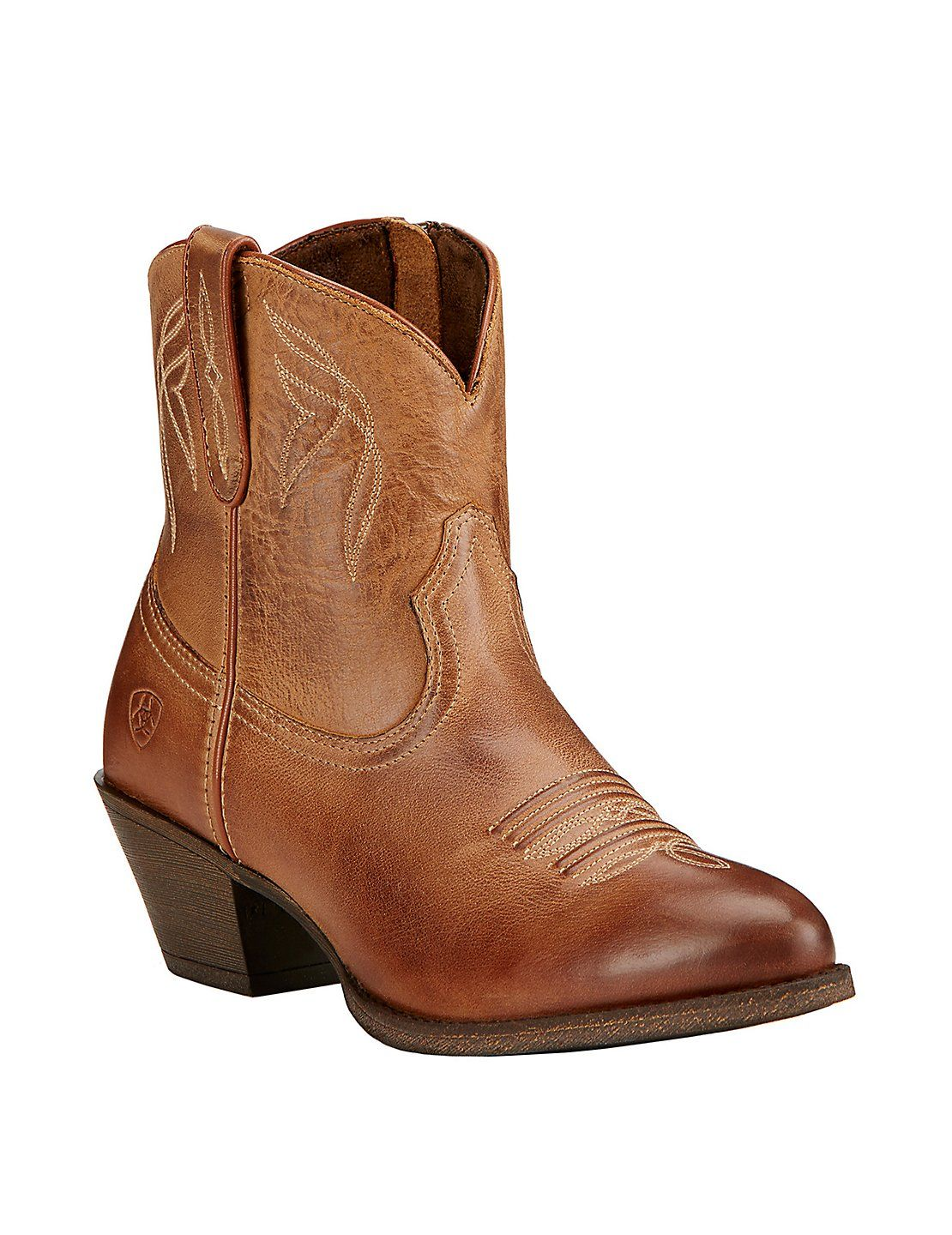 Women's Western Cowgirl Vintage Mid Calf Slouchy Almond Toe Pointy Ankle Bootie Boots