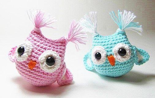 Crochet Rattle Owls by Starfall on Etsy https://www.etsy.com/listing/198765390/crochet-rattle-owls