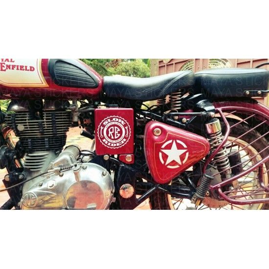 Slow rider royal enfield custom stickers