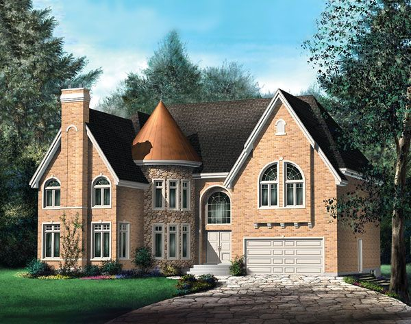 Traditional Style House Plan 69965 With 4 Bed 2 Bath 2 Car Garage Victorian House Plans Reasonable House Plans Mountain House Plans