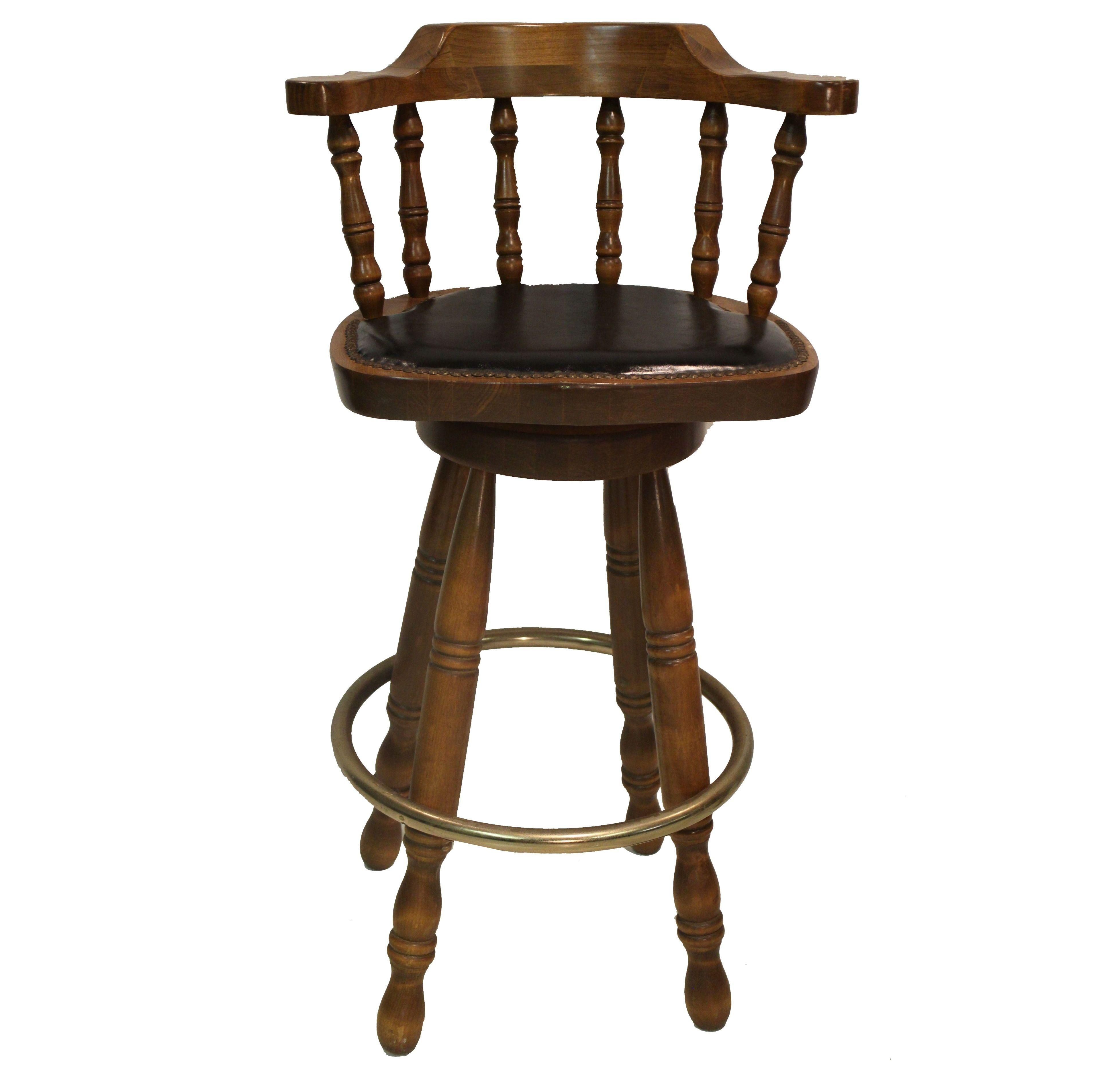 Swivel Bar Chairs A Pair Of Colonial Style Swivel Bar Stools This Classic Set Of