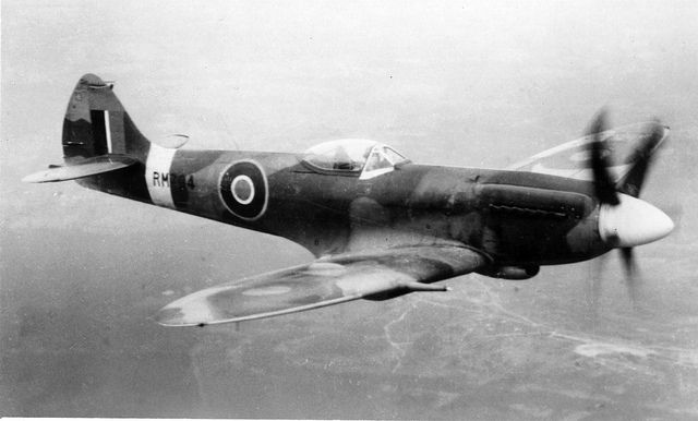 Supermarine Spitfire Mk.XIV, PM694 by San Diego Air & Space Museum Archives, via Flickr