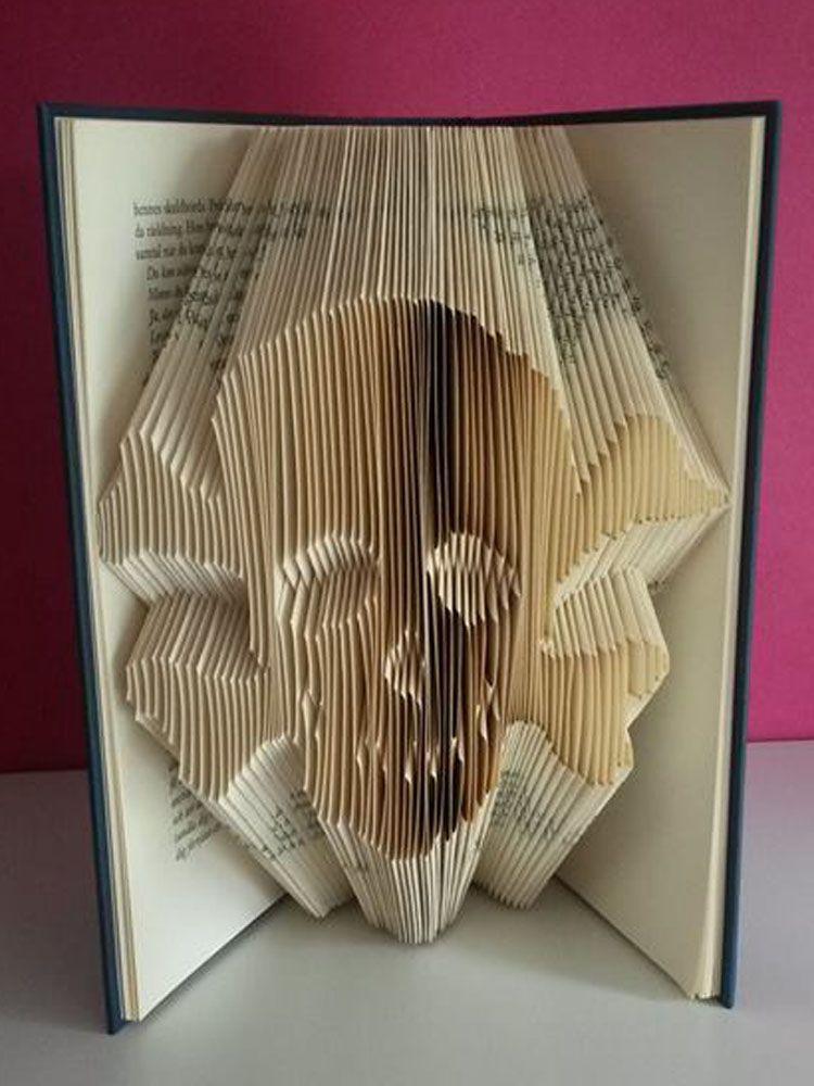 Skull Folded Book Pattern Book Folding Patterns Book Folding Patterns Free Book Folding