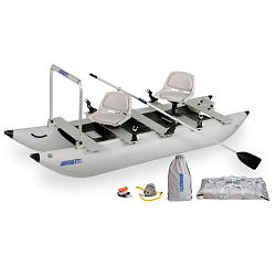Gift ideas for the Best Man.     Sea Eagle FoldCat fising boat with 360 swivel chairs.  Folds up and assembles in 5 minutes