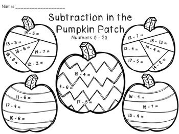 Pages Perfect For Fall Morning Work Or Math Centers 6 Practice Pages
