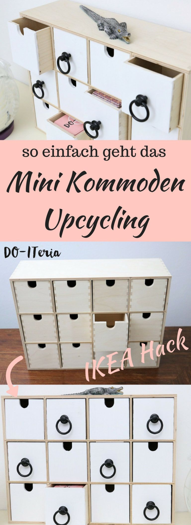 Ikea Hack: schickes Upcycling einer Mini Kommode #palletbedroomfurniture