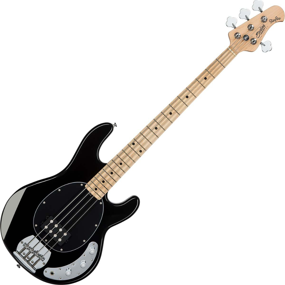 Sterling By Music Man S U B Ray4 Electric Bass Guitar Black Dawsons Music Bass Guitar Guitar Bass Guitar Scales