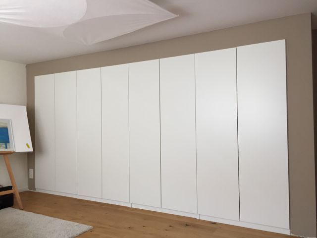 Ikea Pax Kast : Built in pax using dry wall technique einbauschrank