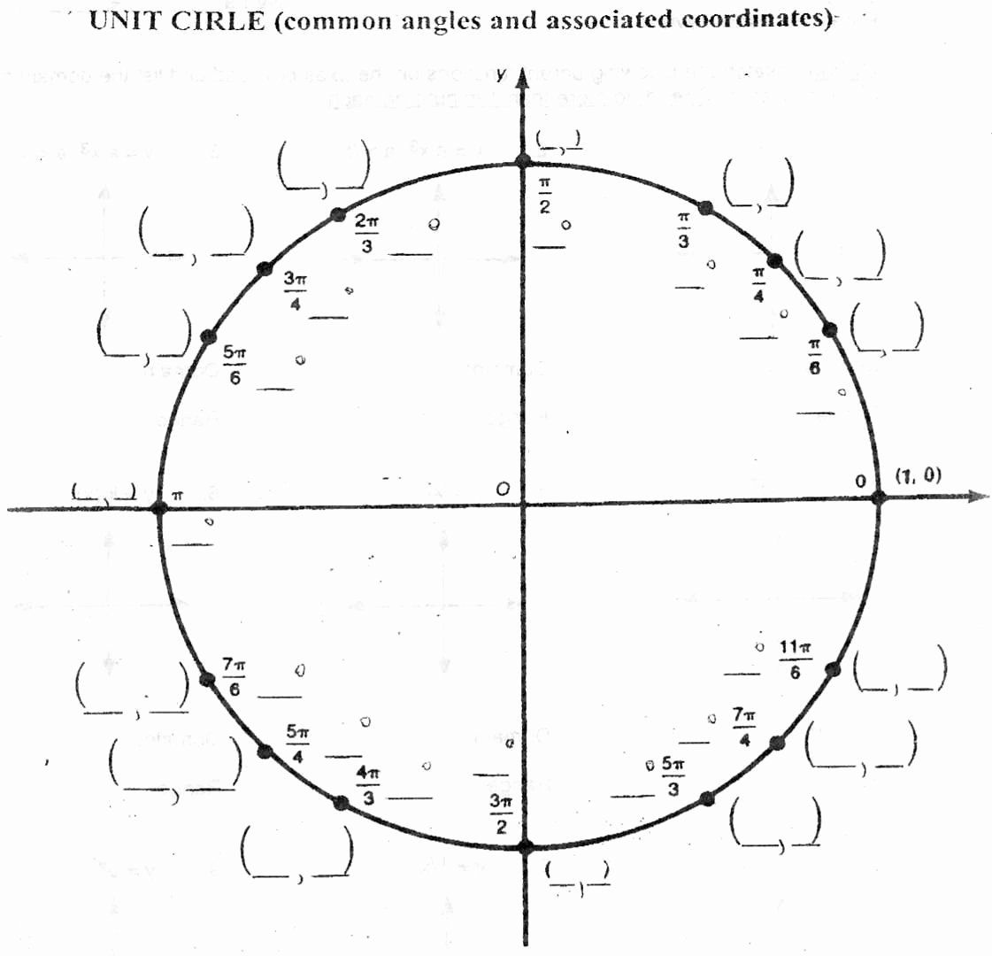 Unit Circle Practice Worksheet Luxury Mr Suominen S Math Homepage Honors Calculus 9 24 12 In 2020 Practices Worksheets Worksheets Math Drills