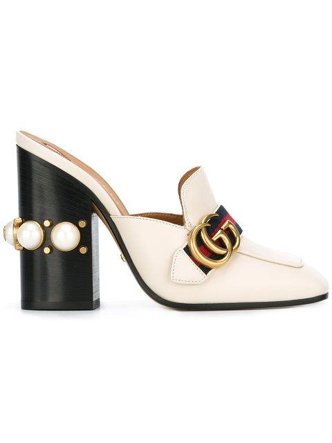 d823cd60b Shop Gucci gold buckle mules. | I CAN STYLE MY WOMAN | Gucci shoes ...