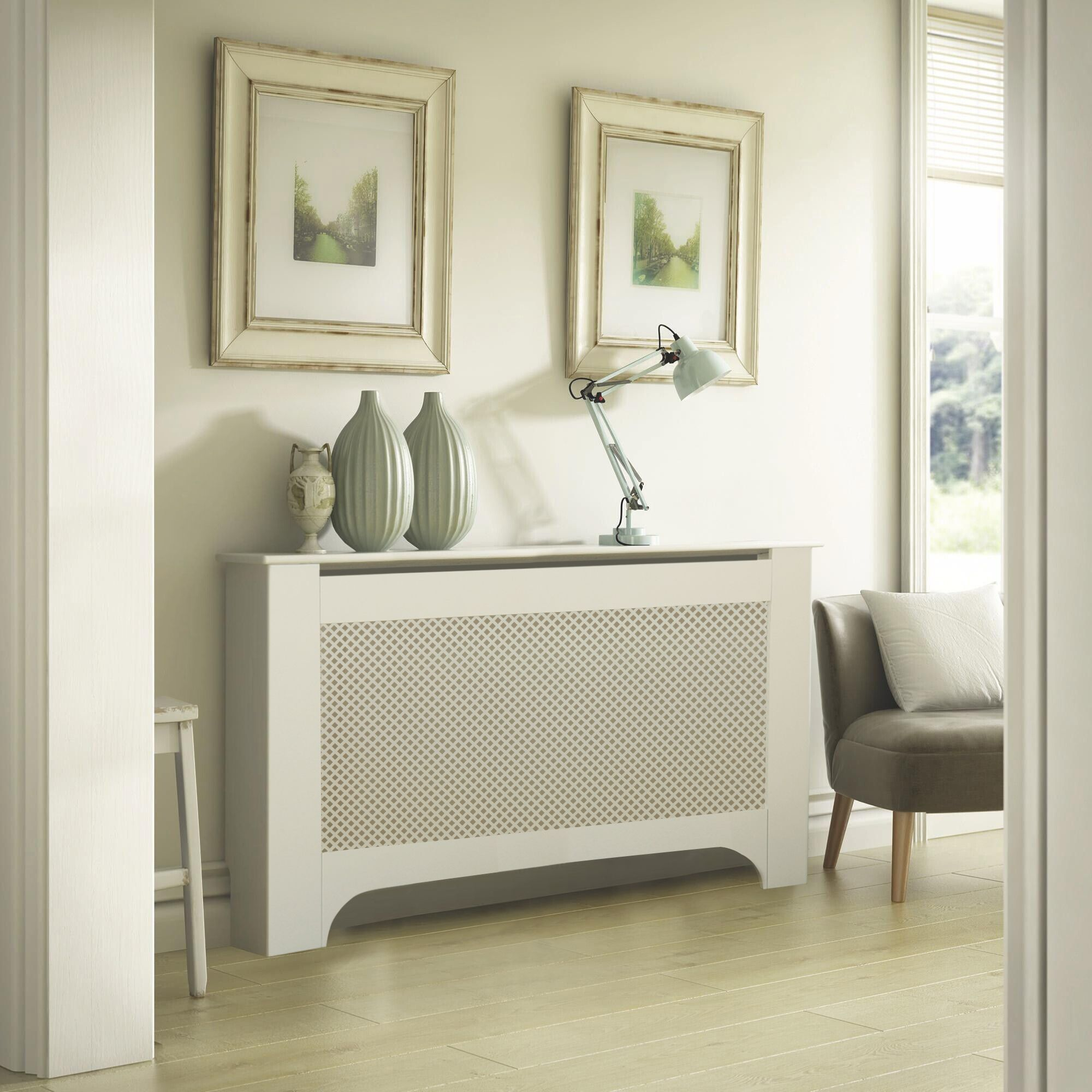 Mayfair Large White Painted Radiator Cover Departments Diy At