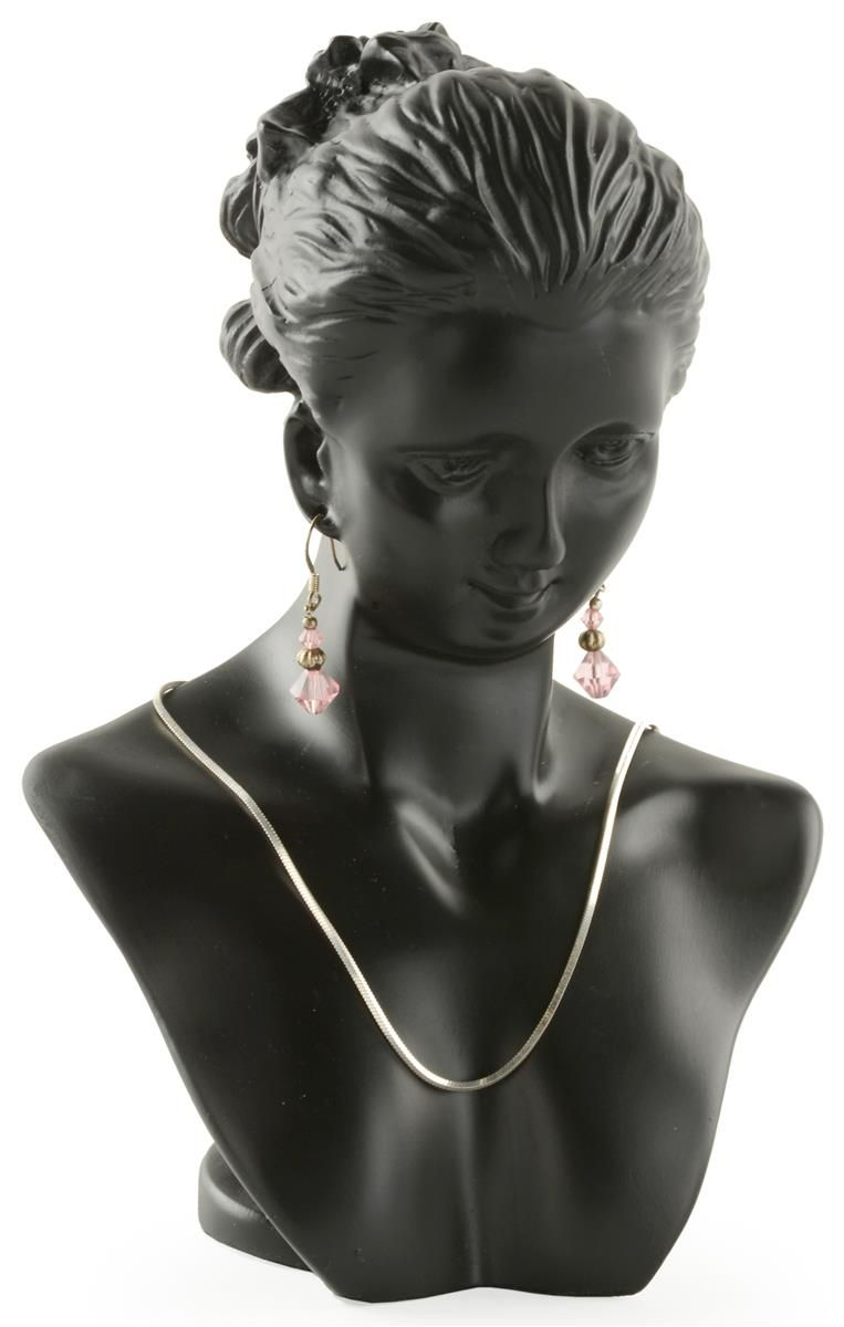 Earring Holes Jewellers Necklace Pendant Chain Shop Combination Display Bust