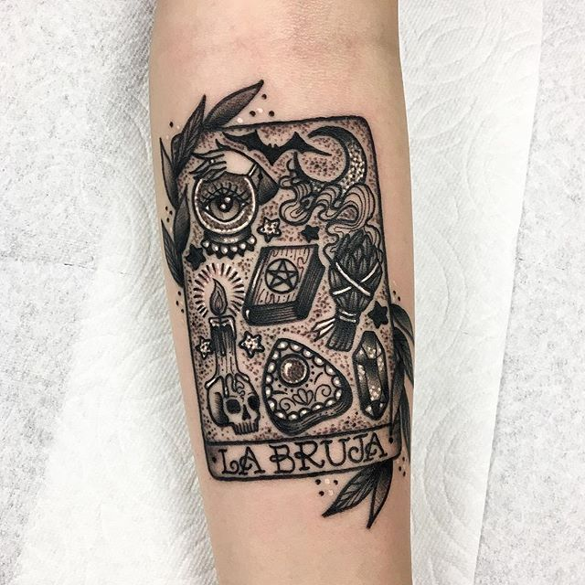 Beware La Bruja Obsessed With This Witchy Tarot Card Tattoo From